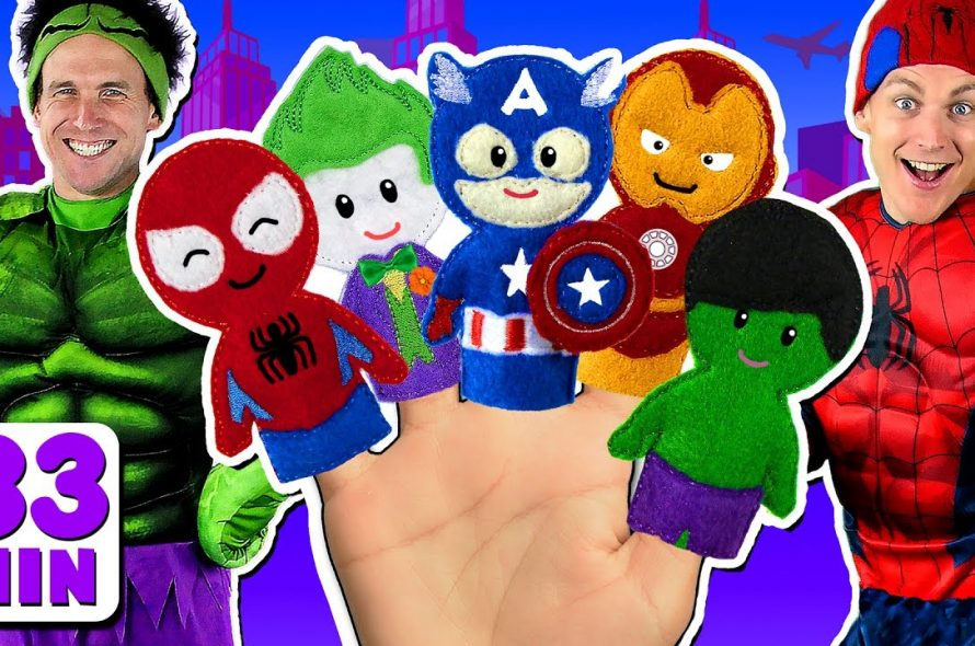 Superheroes Finger Family and more Finger Family Songs!
